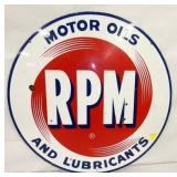 30IN PORC. RPM MOTOR OILS SIGN