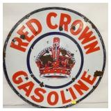 30IN PORC. GASOLINE SIGN
