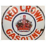VIEW 2 CLOSEUP RED CROWN GAS SIGN