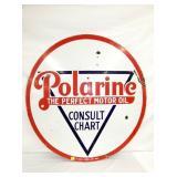 42IN PORC. POLARINE GAS/OIL SIGN