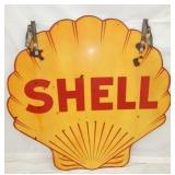 48IN PORC. CLAM SHELL SIGN