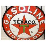 VIEW 2 CLOSEUP TEXACO GASOLINE SIGN