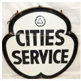 48IN PORC. CITIES SERVICE CLOVER SIGN