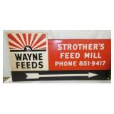 94X46 WAYNE FEEDS MILL SIGN
