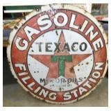 42IN PORC. TEXACO SINGLE SIDED SIGN