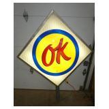 36X36 LIGHTED OK DEALER SIGN