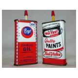 BOYE & TRU-TEST POCKET OIL TINS
