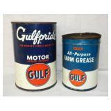 1QT./1PINT GULF OIL CANS