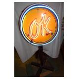 VIEW 5 LIGHTED OK NEON SIGN