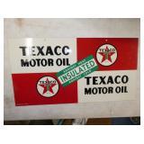 21X11 NOS TEXACO MOTOR OIL SIGN