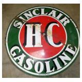 6FT. PORC. HC SINCLAIR GAS SIGN