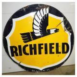 6FT. PORC. RICHFIELD SIGN
