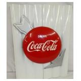 18X25 COCA COLA ARROW SIGN