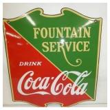 23X28 PORC COKE FOUNTAIN SERVICE SIGN