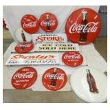 GROUP PICTURE Coca Cola BUTTONS, SIGNS