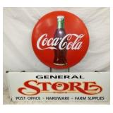 51X43STORE SIGN W/ COKE BUTTON