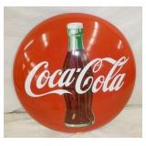 48IN PORC. COKE BUTTON W/ BOTTLE