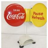 RARE COCA COLA COUNTER SPINNER SIGN