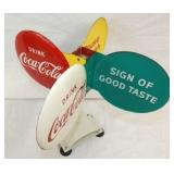 VIEW 5 RARE COCA COLA SPINNER SIGN