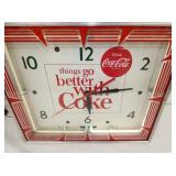 VIEW 2 CLOSE UP COKE NEON CLOCK