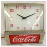 11X12 EARLY COKE LIGHT UP COUNTER CLOCK