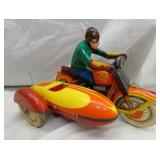 5X9 WINDUP MOTORCYCLE W/ SIDE CAR