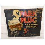 15X19 SPARK PLUG TOBACCO CARDBOARD