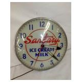 16IN. SANITARY ICE CREAM CLOCK