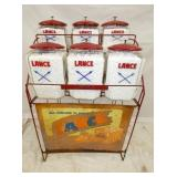 LANCE 6 JAR RACK W/SIGN