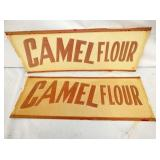 (2) 24X9 NOS EMB CAMEL FLOUR SIGNS