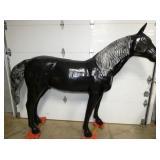 8 1/2 FT.(L) X 6 1/2 FT.(T) CAST HORSE