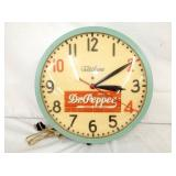 16IN.  DR.PEPPER MASONITE CLOCK