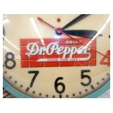 VIEW 4 ALL ORG. DR. PEPPER CLOCK