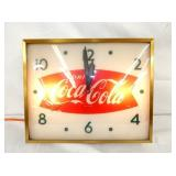 16X14 COKE FISHTAIL CLOCK