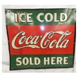 21X19 1/2 EMB. ICE COLD Coca Cola SIGN