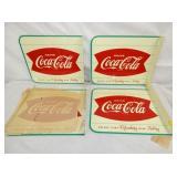 (4) NOS 1932 Coca Cola FLANGE SIGNS