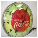 VIEW 3 LEFTSIDE 15IN COKE CLOCK