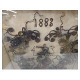 VIEW 2 CLOSEUP DATE 1883 SHADOW BOX ART