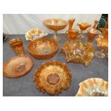 COLLECTION EARLY CARNIVAL GLASS