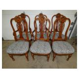 6 MATCHING CHERRY CHAIRS