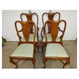 4 MATCHING CHERRY CHAIRS
