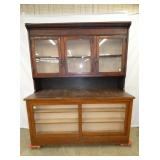 75X85 2PC. COUNTRY STORE CUPBOARD