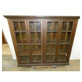 PINE 4 DOOR PRIM. BOOKCASE