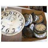 VARIOUS EARLY CLOCK PARTS/FACES