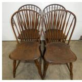 4 MATCHING WINSOR CHAIRS