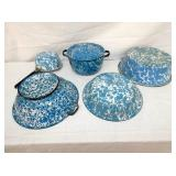 BLUE/WHITE ENAMEL WARE