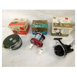FLY/CASTING REELS W/ ORIG. BOXES