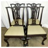 4 MATCHING CHIPINDALE STYLE CHAIRS