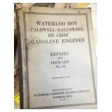 WATERLOO BOY REPAIR PRICE GUIDE MANUAL