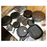 GRISWOLD & OTHER CAST PANS